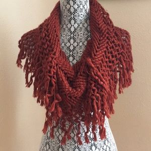 Brick Red cute loop scarf